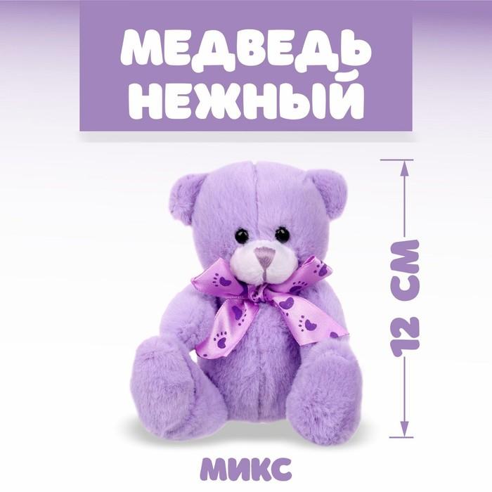 """Мягкая игрушка """"Медведь нежный"""" бант, следы, цвета МИКС"""