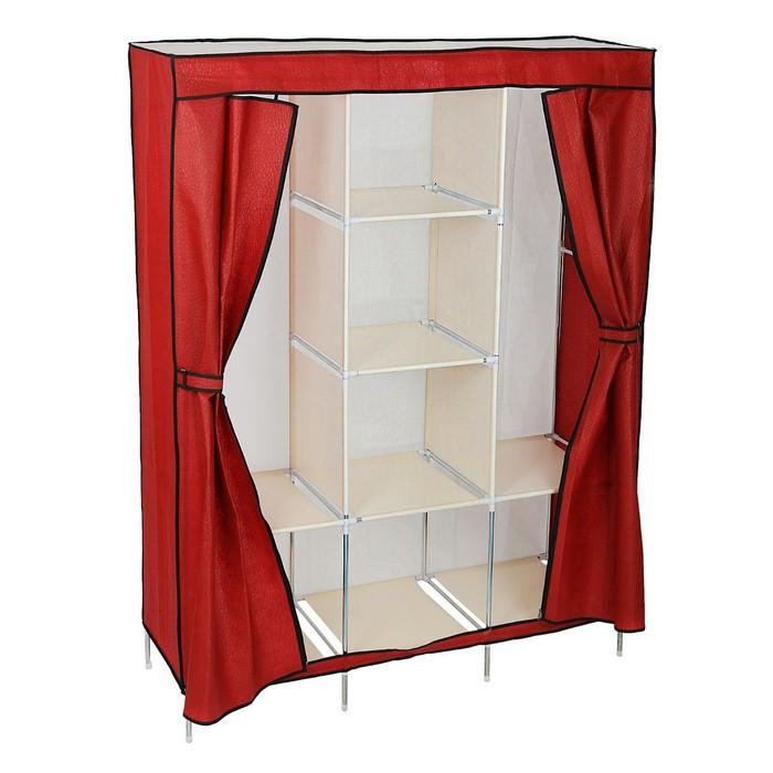 Шкаф для одежды 130х45х175 см, красный