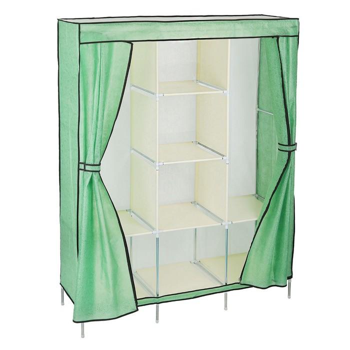 Шкаф для одежды, 130 × 45 × 175 см, мятный