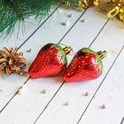 Набор украшений пластик 5,5*4 см (набор 6 шт) ягодки