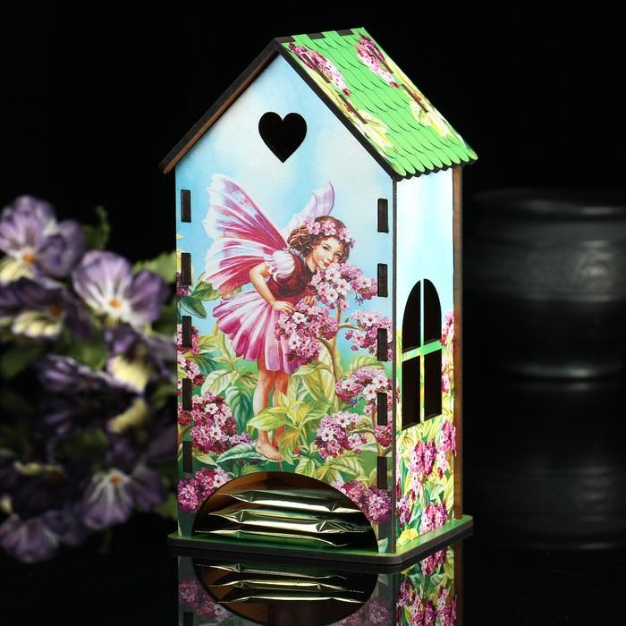Чайный домик «Эльфийка и сирень», 9,3х9,3х20 см