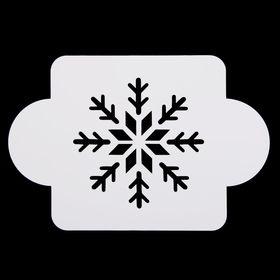 "Stencil plastic ""snowflake strict"" 10x10 cm (MDR-37)"