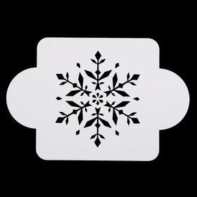 Трафарет пластик 'Снежинка изящная' 10х10 см (МДНГ-27) Ош