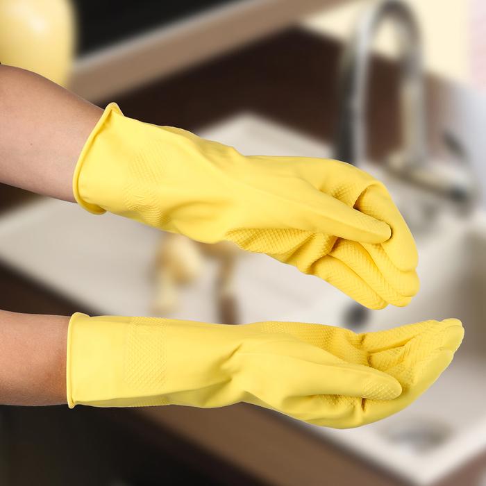 Перчатки защитные суперпрочные, латекс, размер M, 45 г., цвет МИКС
