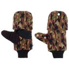 Перчатки из флиса с магнитом (камуфляж)