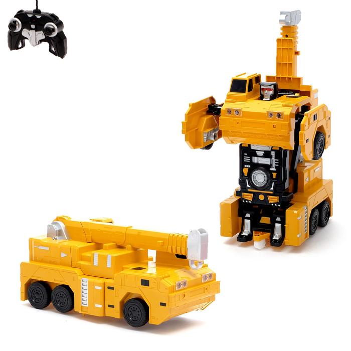 """Робот-трансформер радиоуправляемый """"Кранобот"""", с аккумулятором, масштаб 1:14 mz 2822P"""
