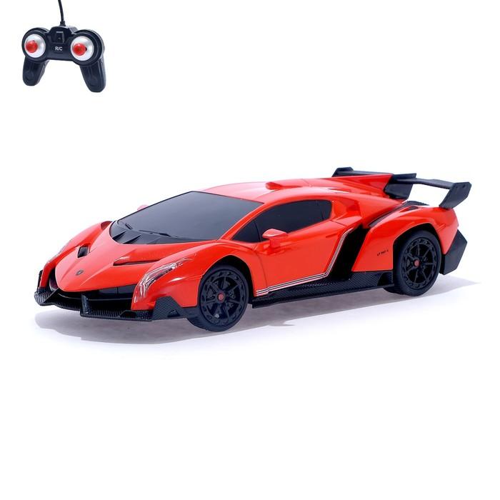 """Машина радиоуправляемая """"Lamborghini Veneno"""", масштаб 1:24, работает от батареек, свет, МИКС"""