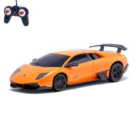Машина радиоуправляемая Lamborghini Murcielago, масштаб 1:24, работает от батареек, свет, цвет оранжевый, mz 27018