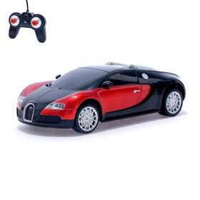 """Машина радиоуправляемая """"Bugatti Veyron"""", масштаб 1:24, работает от батареек, свет, МИКС, mz 27028"""