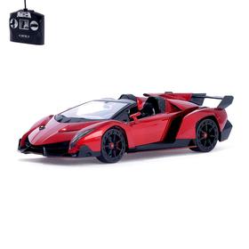 Машина радиоуправляемая Lamborghini Veneno, 1:14, работает от аккумулятора, световые эффекты, цвет красный, mz 2304J
