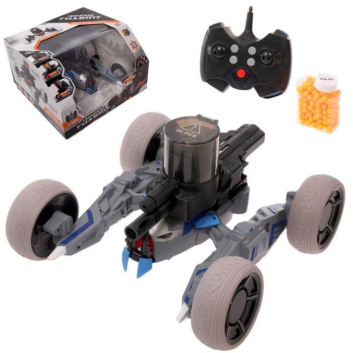 """Машина-робот радиоуправляемая """"Квадроджип"""", с лазером, стреляет пулями, световые эффекты"""
