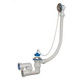 """Сифон ORIO A-8008, 1 1/2""""х40 мм, для ванны, регулируемый, с переливом"""
