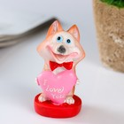 "Souvenir Polyresin ""Puppy husky with a heart/coin"" MIX 8x5,6x5,3 cm"