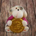 "Souvenir ceramic ""Puppy knitted jumper with a gold coin"" 8,5х8х6 cm"