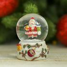 "Сувенир полистоун водяной шар ""Дед Мороз на сугробе"" 6,5х4,6х4,6 см"
