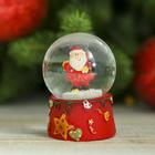 "Сувенир полистоун водяной шар ""Дед Мороз со звёздочками"" 6,5х4,5х4,5 см"
