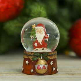 "Souvenir Polyresin water globe ""Santa Claus ball"" 6,5x4,5x4,5 cm"