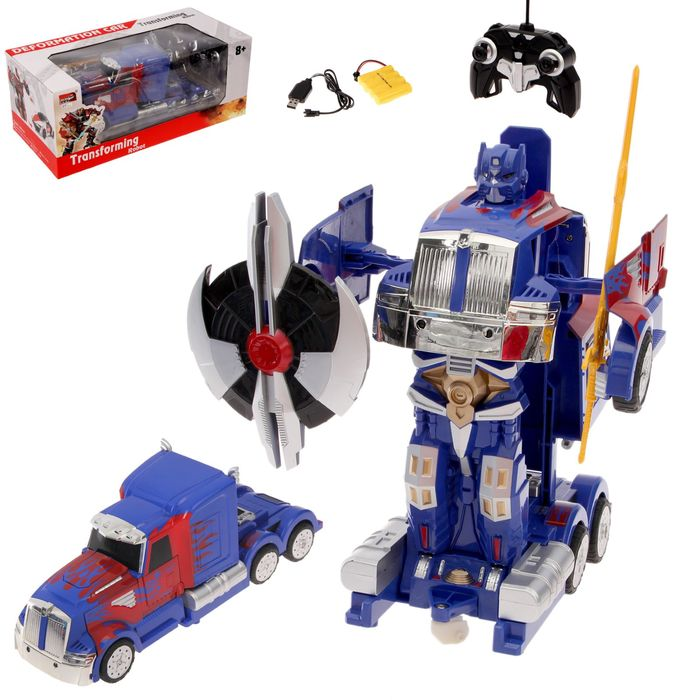 Робот-трансформер радиоуправляемый «Автобот», работает от аккумулятора, масштаб 1:14, MZ 2335P