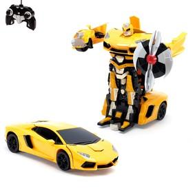 Робот-трансформер радиоуправляемый Lamborghini Aventador, работает от аккумулятора, масштаб 1:14, МИКС mz 2321P Ош