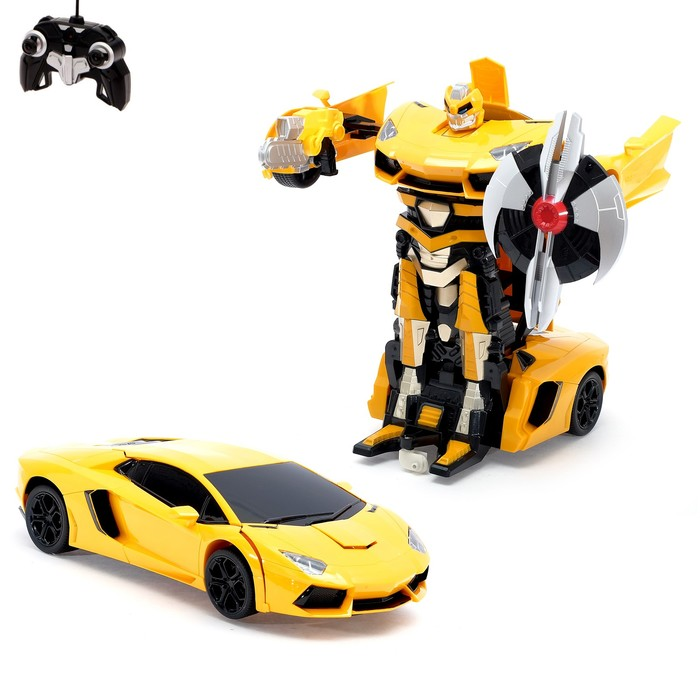 Робот-трансформер радиоуправляемый Lamborghini Aventador, работает от аккумулятора, масштаб 1:14, МИКС mz 2321P