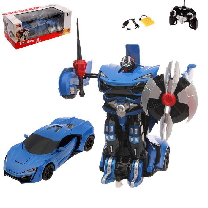 """Робот-трансформер радиоуправляемый """"Автобот"""", с аккумулятором, масштаб 1:14, МИКС mz 2317P"""