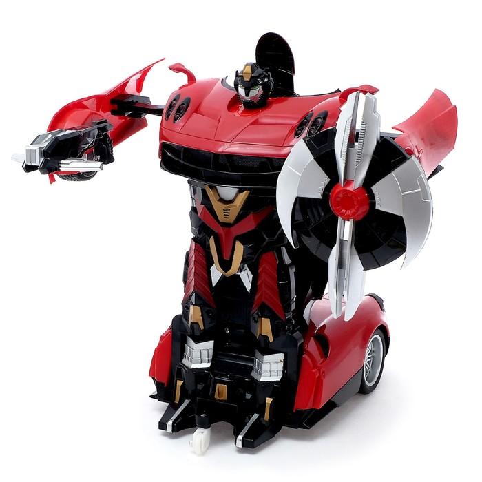 Робот-трансформер радиоуправляемый «Автобот», работает от аккумулятора, масштаб 1:14, МИКС mz 2339P - фото 8375717