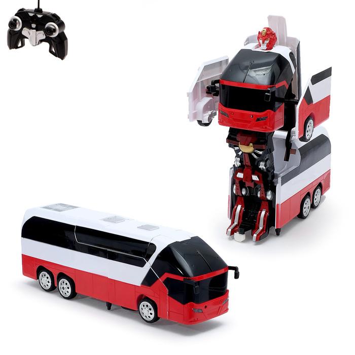 """Робот-трансформер радиоуправляемый """"Автобус"""", с аккумулятором, масштаб 1:10 mz 2372P"""