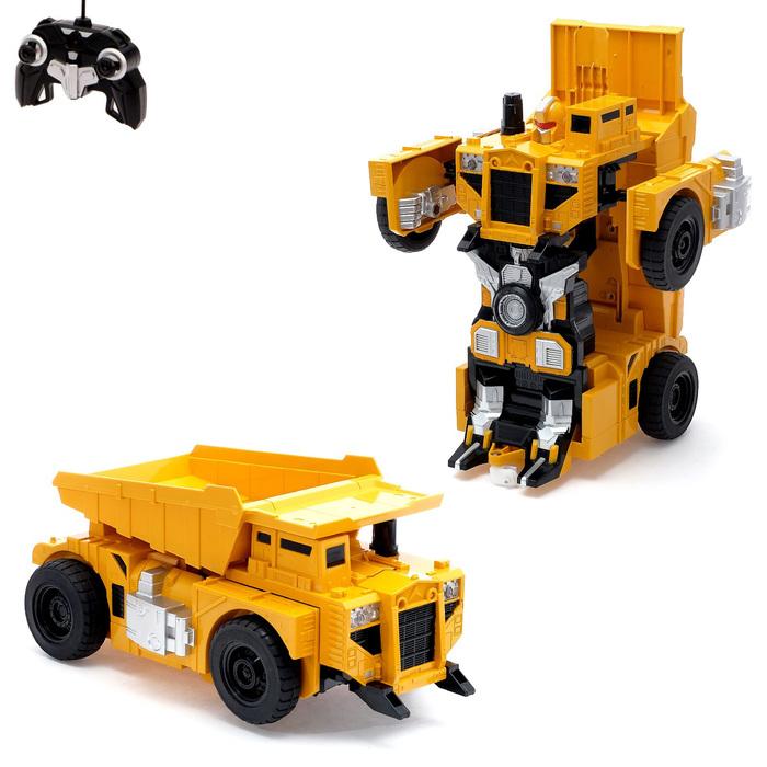 """Робот-трансформер радиоуправляемый """"Стройбот"""", с аккумулятором, масштаб 1:14 mz 2821P"""