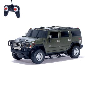 """Машина радиоуправляемая """"Hummer H2"""", масштаб 1:24, работает от батареек, свет , МИКС, mz 27020"""