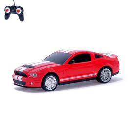 Машина радиоуправляемая Ford Shelby Mustang, 1:24, работает от батареек, свет, цвет красный, mz 27050
