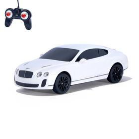 Машина радиоуправляемая Bentley Continental, 1:24, работает от батареек, свет, цвет белый, mz 27040