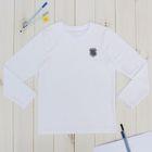 """Джемпер для мальчика """"День знаний"""", рост 146 см (76), цвет белый ПДД236804"""