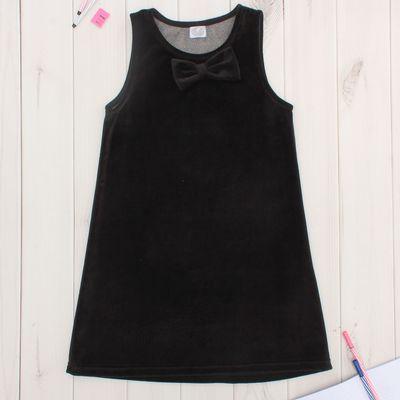 """Сарафан для девочки для девочки """"Школьная пора"""", рост 122 см (62), цвет чёрный"""