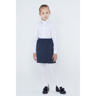 """Юбка для девочки """"Школьная пора"""", рост 146 см (76), цвет тёмно-синий"""