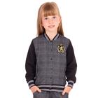 """Куртка для девочки """"Школьная пора"""", рост 128 см (64), цвет антрацит ДДД664258н"""