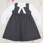 """Платье для девочки """"Школьная пора"""", рост 128 см (64), цвет серый  ДПД682258н"""
