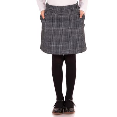 """Юбка для девочки """"Школьная пора"""", рост 134 см (68), цвет серый"""