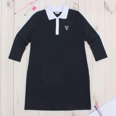 """Платье для девочки """"Школьная пора"""", рост 122 см (62), цвет тёмно-синий ДПД144858"""