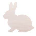 Заготовка деревянная «Милый кролик», 21 × 20 × 0,4 см