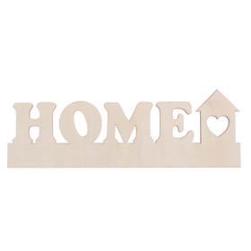 """Blank wooden """"Home"""", 28 x 9.5 x 0.4 cm"""