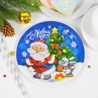 "Plate paper ""Santa Claus with hare"" (18 cm)"