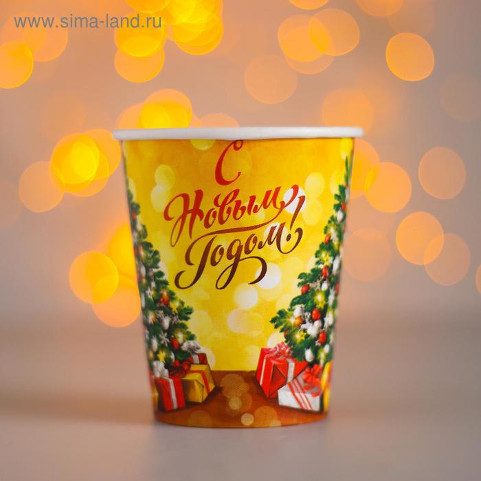 """Glass paper """"Tree holiday, happy new year"""" (250 ml)"""
