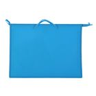 Папка А3 с ручками пластиковая 420х343х50 мм, ярко-голубая