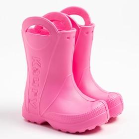 Сапоги детские, цвет светло-розовый, размер 24-25
