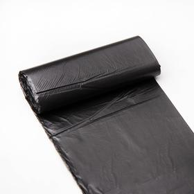 """Мешки для мусора 30 л """"Эконом"""", ПНД, толщина 7 мкм, 20 шт, цвет чёрный - фото 1692219"""
