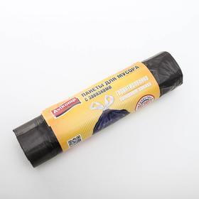 """Мешки для мусора с завязками 60 л """"Эконом"""", ПНД, толщина 15 мкм, 10 шт, цвет чёрный"""