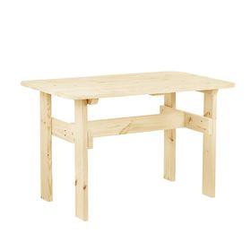 """Стол к набору """"Дачный""""  120 см, натуральная сосна ПРОМО"""