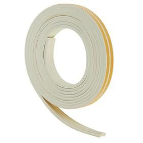 Уплотнитель резиновый самоклеящийся UNIBOB, профиль E, в катушке 6 м, белый