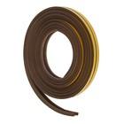 Уплотнитель резиновый самоклеящийся UNIBOB, профиль P, в катушке 6 м, коричневый