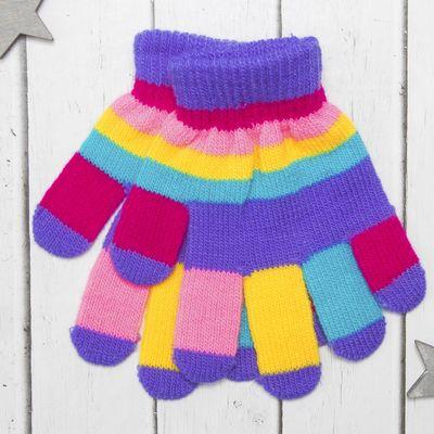 """Перчатки детские Collorista """"Пальчики"""", размер 18 (р-р произв. 9), цвет фиолетовый"""